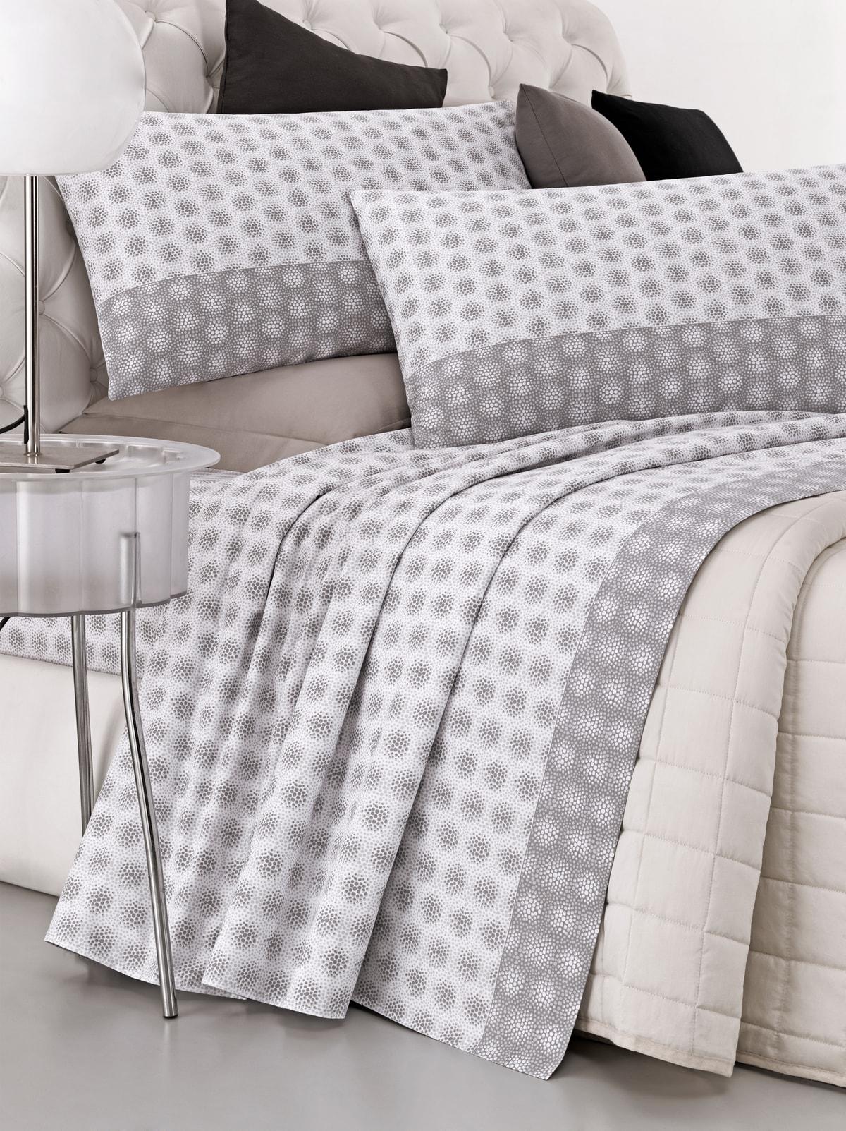 Completo letto tessuto percalle disegno spazio