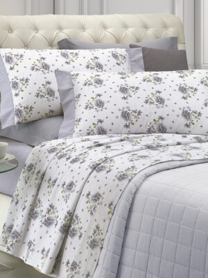 completo lenzuola in cotone percalle made in italy marca angel's collection