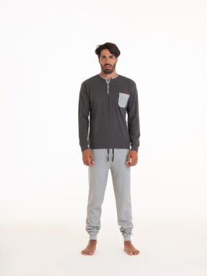 pigiama uomo in caldo cotone marca angel's collection
