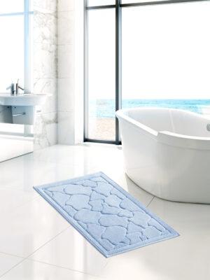 Tappeto da bagno singolo in cotone 60*100 centimetri del marchio Angel's Collection di colore celeste