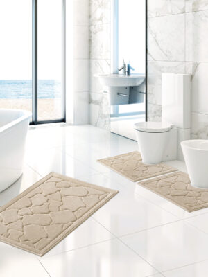 set tappeto bagno in 100% cotone angel's collection